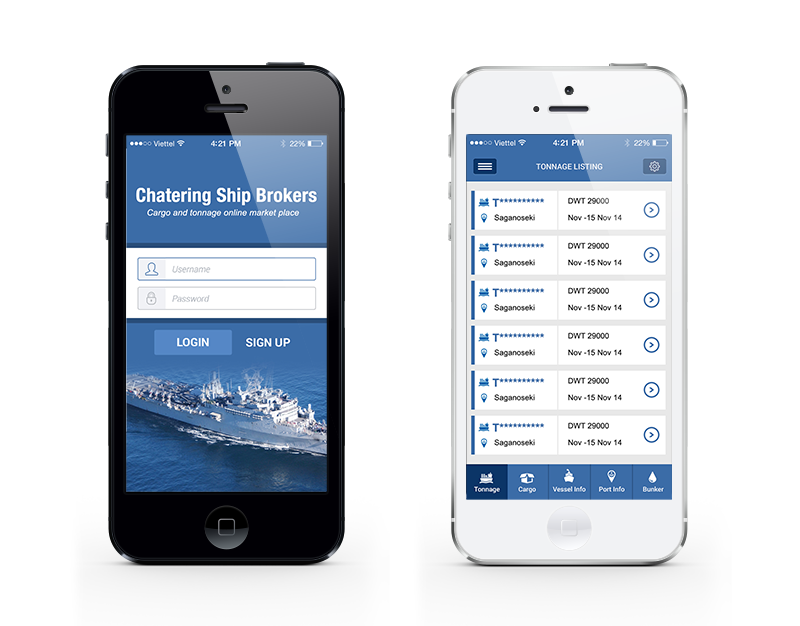 Chatering Ship Broker Mobile App (Android & Mobile) | EFE